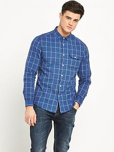 v-by-very-window-pane-check-mens-shirt