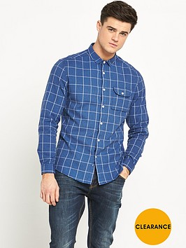 v-by-very-window-pane-check-mens-shirt