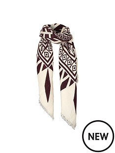 warehouse-aztec-blanket-scarf