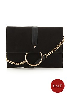 circle-detail-long-strap-shoulder-bag
