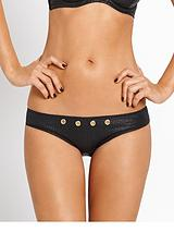 Eyelet Detail PU Cut Out Brief