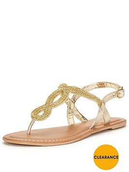 v-by-very-arundalnbspembellished-flat-toe-post-sandal-nbsp