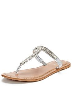 v-by-very-millynbspjewel-t-bar-toe-post-flat-sandal