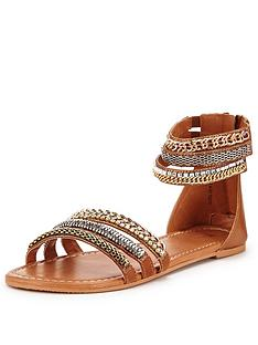 v-by-very-providence-embellished-grecian-ankle-cuff-flat-sandal