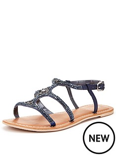 v-by-very-paradise-embellished-mule-sandal-navy