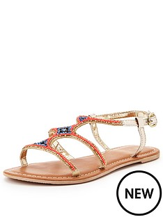 v-by-very-paradise-embellished-mule-sandal-gold-multi