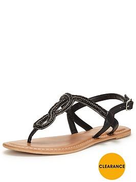 v-by-very-arundalnbspembellished-flat-toe-post-sandalnbsp
