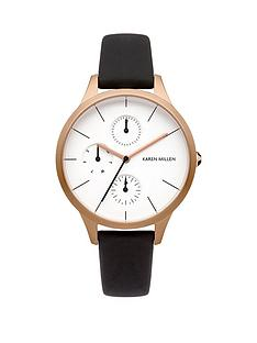 karen-millen-karen-millen-multifunction-white-dial-brown-leather-strap-ladies-watch