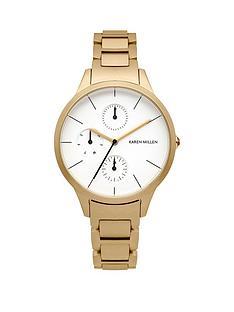 karen-millen-karen-millen-multifunction-white-dial-gold-tone-stainless-steel-bracelet-ladies-watch