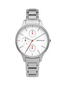 karen-millen-karen-millen-multifunction-white-dial-silver-tone-stainless-steel-bracelet-ladies-watch