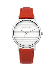 karen-millen-karen-millen-white-dial-red-leather-strap-ladies-watch