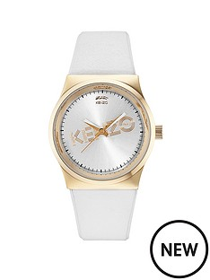 kenzo-kenzo-dix-huit-white-dial-white-leather-strap-ladies-watch