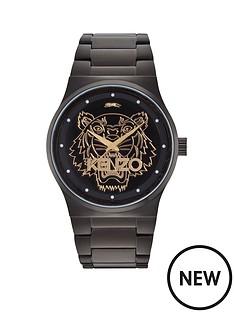 kenzo-kenzo-tiger-head-black-dial-black-stainless-steel-bracelet-ladies-watch