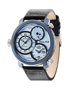 police-police-mamba-silver-tone-dial-blue-mineral-glass-black-leather-strap-mens-watch
