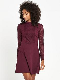 v-by-very-lace-high-neck-skater-dress