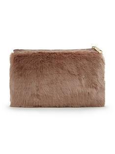 miss-selfridge-faux-fur-clutch-bag