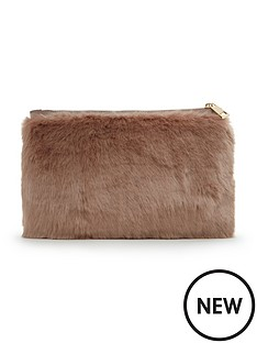 miss-selfridge-faux-fur-clutch-bag
