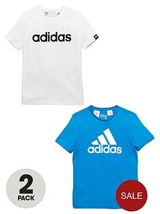 adidas-adidas-yb-pack-of-two-logo-tees