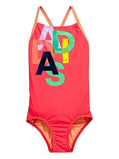 adidas-girls-logo-swimsuit