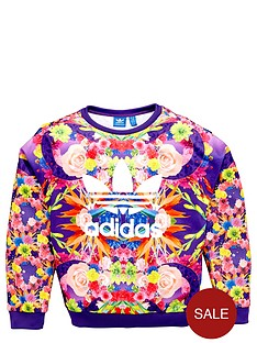 adidas-originals-girls-floral-sweatshirt