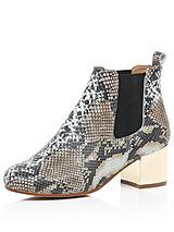 Round Toe Boot with Gold Heel
