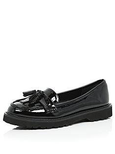 river-island-patent-chunky-loafernbspshoes-with-tassel