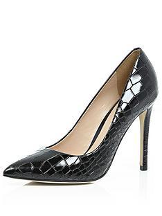 river-island-patent-croc-point-court-shoes