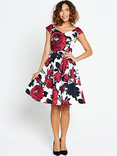 myleene-klass-printed-prom-dress