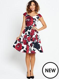 myleene-klass-printed-prom-dress