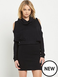 river-island-cold-shoulder-cowl-neck-dress