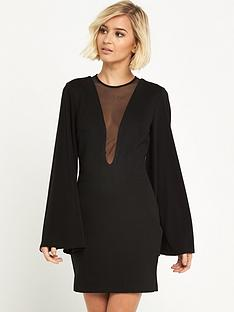 river-island-mesh-plunge-bodycon-dress