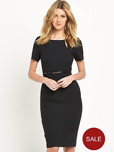 v-by-very-belted-short-sleeve-pencil-dress