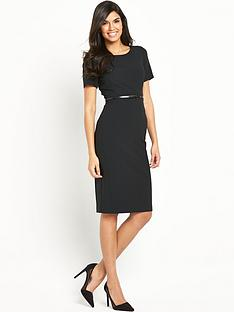 v-by-very-petite-short-sleeve-belted-pencil-dress