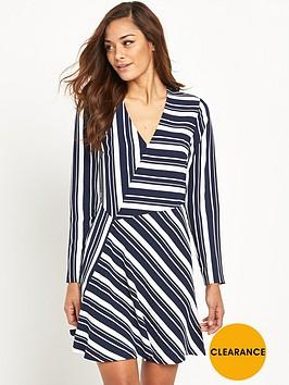 v-by-very-stripe-v-neck-dress