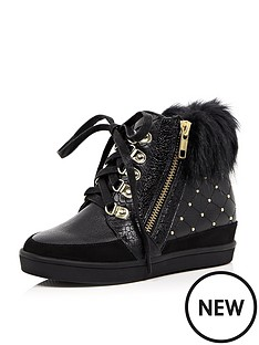river-island-girls-stud-wedge-trainers