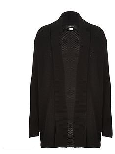 river-island-open-front-mesh-cardigan