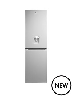 candy-candy-ccbf5182awk-185cm-x-55cm-water-through-door-frost-free-combi-fridge-freezer-silver