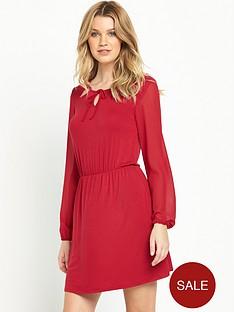 south-chiffon-sleeve-jersey-tea-dress