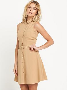 miss-selfridge-sleeveless-belted-dress