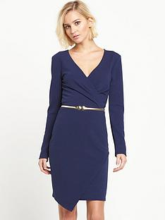 miss-selfridge-long-sleeved-belted-wrap-dress