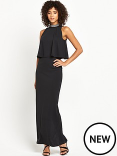 v-by-very-embellished-high-neck-maxi-dress-petite