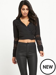miss-selfridge-wrap-front-long-sleeve-crop-tee