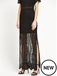 miss-selfridge-black-lace-maxi-skirt