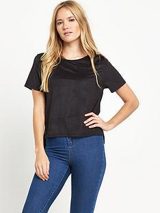 miss-selfridge-suedettenbspshort-sleeved-top