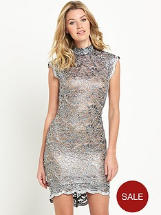 miss-selfridge-miss-selfridge-metallic-lace-dress