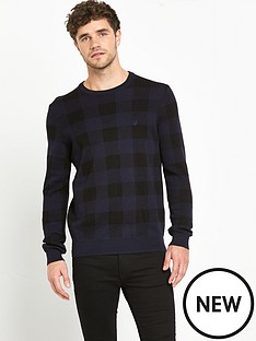 lyle-scott-block-check-mens-jumper