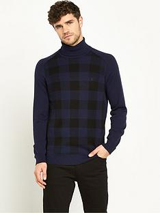 lyle-scott-check-roll-neck-mens-jumper