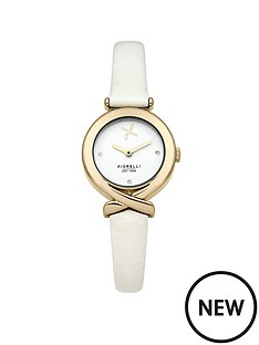 fiorelli-fiorelli-white-dial-white-leather-strap-ladies-watch