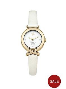fiorelli-fiorelli-white-dial-white-leather-strap-ladies-watch