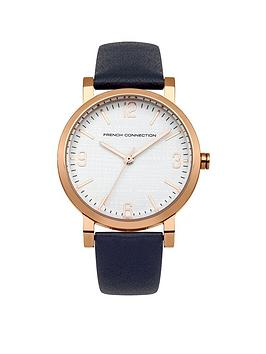 French Connection French Connection Catherine White Dial With Blue Leather Strap Ladies Watch